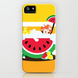 Watermelon Bath iPhone Case