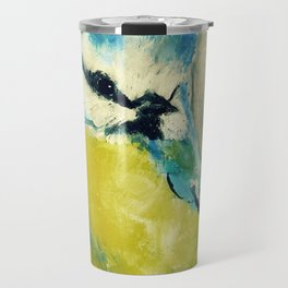 Blue Tit British Wildlife Acrylic Fine Art Travel Mug