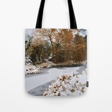 The Old Mill Stream in Winter Tote Bag