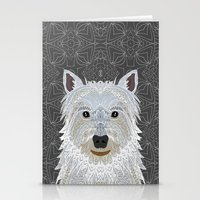 westie Stationery Cards featuring Westie by ArtLovePassion