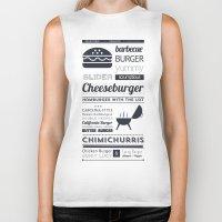 hamburger Biker Tanks featuring Hamburger  by 16floor