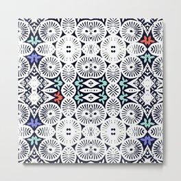 fraternité: artisanal tribal in black & white Metal Print