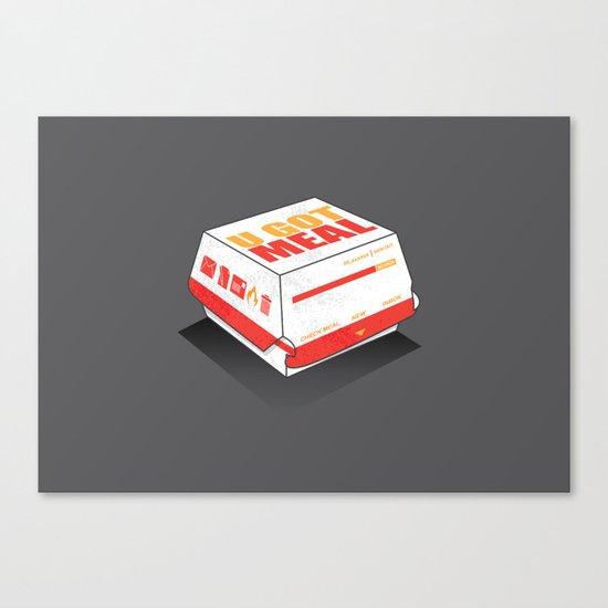 U got Meal Canvas Print