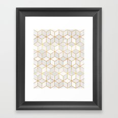 White Cubes Framed Art Print