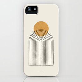 Gold Sun rainbow mountain iPhone Case