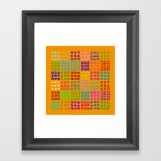 Aztec Wannabe (Orange) Framed Art Print
