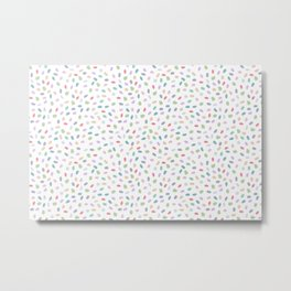 Color Oval Dots Metal Print