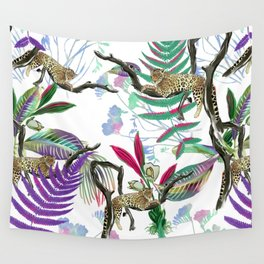 texture of print fabric striped leopard Wall Tapestry