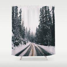 Winter Drive Shower Curtain