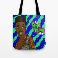 fresh prince Tote Bags featuring Fresh Prince of Bel Air by The POP Factory