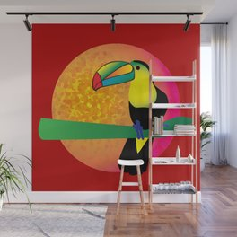 Toucan - Red Wall Mural