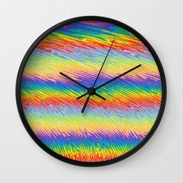 Bleeding Colors  Wall Clock