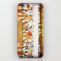 the last unicorn iPhone & iPod Skins featuring Last Supper Unicorn by That's So Unicorny