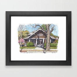 UC Davis building Framed Art Print