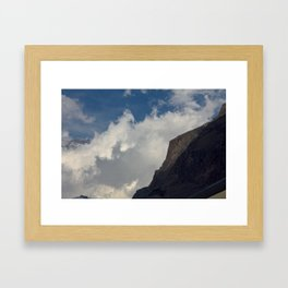 Rock Clouds Sky Framed Art Print
