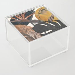 Abstract Tropical Art III Acrylic Box