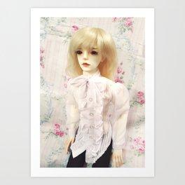 Pastel Vampire Prince Kallias doll Art Print