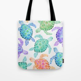 Sea Turtle - Colour Tote Bag