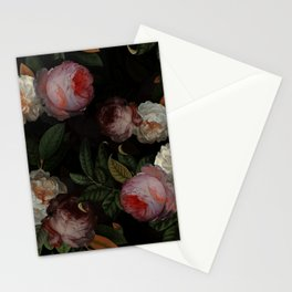 Jan Davidsz. de Heem Vintage Botanical Midnight Rose Garden Stationery Cards