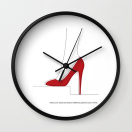 when your mind and body in different places in your world Wall Clock