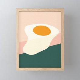 Fried Egg On The Edge Framed Mini Art Print