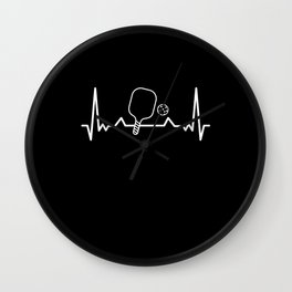 Pickleball Heartbeat Dink Dinking Gift Wall Clock