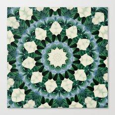 Sacramento Green and Cerulean Blue Mandala Canvas Print