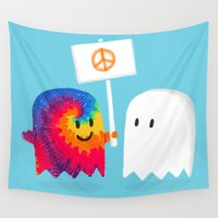 edm Wall Tapestries featuring Hippie ghost by Picomodi