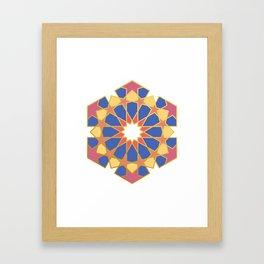 ISLAMIC ART GEOMETRIC DESIGN Framed Art Print