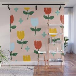 Colorful tulip Wall Mural