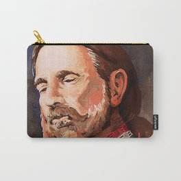Willie Nelson Acrylic Painting Carry-All Pouch