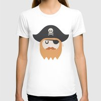 pirate T-shirts featuring Pirate by Beardy Graphics