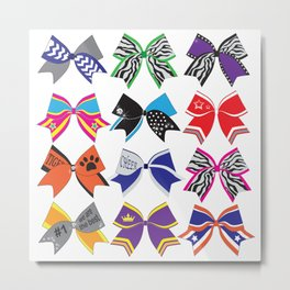 Cheerleading Lovely bow design Metal Print