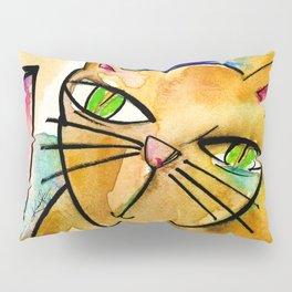 My Crazy Cat No. 3 by Kathy Morton Stanion Pillow Sham