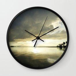 South Pacific Sunset - Eneko 1 Wall Clock