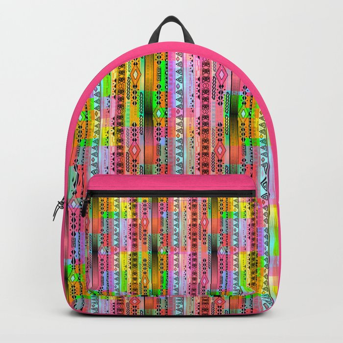 Abstraction. The rainbow pattern. 1 Backpack