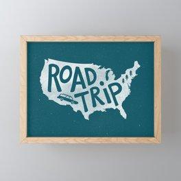 Road Trip USA - reverse Framed Mini Art Print