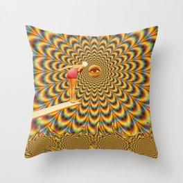 Acid jump Throw Pillow