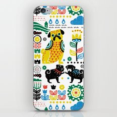 Scandinavian Pugs iPhone & iPod Skin