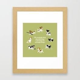 Farmdogs are wonderful things Framed Art Print