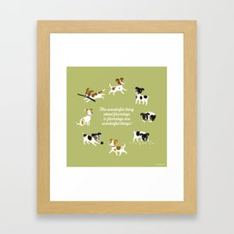 Farmdogs are wonderful things Framed Art Print