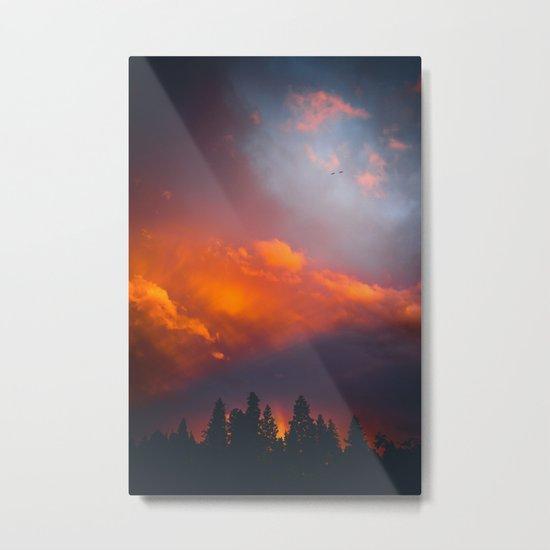 Bend Oregon: sunset & rainbow Metal Print