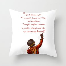 Positive Attitude Throw Pillow