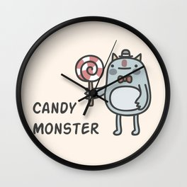 Candy Monster Wall Clock