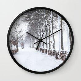 Snow way Wall Clock