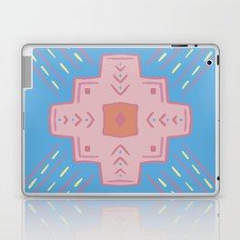 Boho Spanish Tile Pink and Blue Laptop & iPad Skin