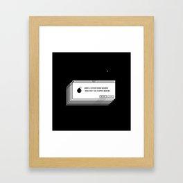 Brain.exe error Framed Art Print