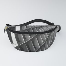Abstract City Architecture Pittsburgh Black White Fanny Pack