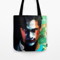 mad men Tote Bags featuring Mad Men by iamomnipotent