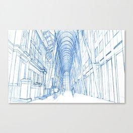 BluePrints   Brookfield Place Glass Arcade - Toronto Canvas Print